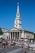 St Martins in the field church, Trafalgar Square, London.