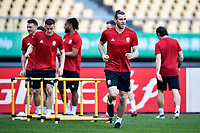 Gareth Bale, center, of Wales national football team takes part in a training session before the semi-final match against China during the 2018 Gree China Cup International Football Championship in Nanning city, south China's Guangxi Zhuang Autonomous Region, 20 March 2018.