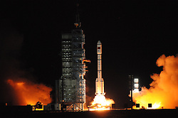 JIUQUAN, CHINA - SEPTEMBER 15: .The Tiangong-2 space laboratory is ready for launch at Jiuquan Satellite Launch Center on September 15, 2016 in Jiuquan, Gansu Province of China. China launched the Tiangong-2 space laboratory which was lifted by the Long March 2F carrier rocket on Thursday night at Jiuquan Satellite Launch Center. .¬©Exclusivepix Media (Credit Image: © Exclusivepix media via ZUMA Press)