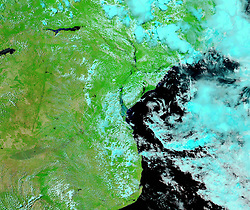 March 21, 2019 - Mozambique Channel - After Floods. Tropical cyclones carry three major threats: winds, storm surge, and rainfall-triggered floods. All three landed devastating blows on Mozambique when Tropical Cyclone Idai came ashore on March 15, 2019, after taking a sharp turn in the Mozambique Channel a few days earlier. (Credit Image: © NASA Earth/ZUMA Wire/ZUMAPRESS.com)