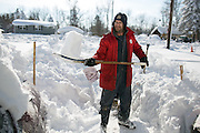 in Alden, New York, USA on Wednesday, November 19, 2014. Up to six feet of snow fell on the region Tuesday, stranding dozens of motorists on roadways and causing at least six deaths.
