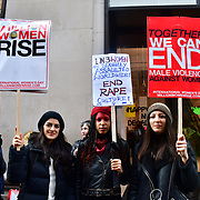 Hundreds of protectors joint Million Women Rise 2020 assembly at Duke Street, on 7 March 020, London, UK