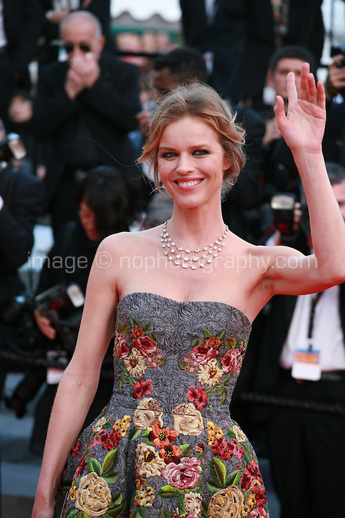 Eva Herzigova, at the Two Days, One Night (Deux Jours, Une Nuit) gala screening red carpet at the 67th Cannes Film Festival France. Tuesday 20th May 2014 in Cannes Film Festival, France.