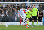 Leeds United striker Jordan Rolly Botaka (20) in action during the Sky Bet Championship match between Leeds United and Brighton and Hove Albion at Elland Road, Leeds, England on 17 October 2015.