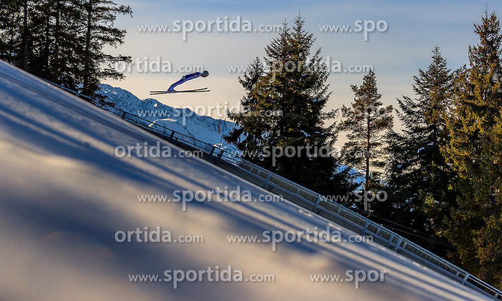 28.01.2017, Casino Arena, Seefeld, AUT, FIS Weltcup Nordische Kombination, Seefeld Triple, Skisprung, im Bild Martin Fritz (AUT) // Martin Fritz of Austria in action during his Trail Jump of Skijumping of the FIS Nordic Combined World Cup Seefeld Triple at the Casino Arena in Seefeld, Austria on 2017/01/28. EXPA Pictures © 2017, PhotoCredit: EXPA/ JFK