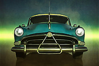 The Hudson Hornet is one of the most iconic cars of all time. It is certainly a vehicle that remains in the public consciousness. What does the car mean? For many, it represents sophistication. It represents a breed that can go the distance. It represents a thought that is designed to stand the test of time. All of these thoughts, and many more, can be applied to the Hudson Hornet. This piece brings all of those thoughts to vivid, gorgeous life. This wonderful piece is available as wall art, t-shirts, or in the form of numerous interior home d&eacute;cor products.<br /> <br /> About the car: The Hudson Hornet is an automobile which was produced by the Hudson Motor Car Company of Detroit, Michigan, between 1951 and 1954 and then by American Motors Corporation (AMC) in Kenosha, Wisconsin, and marketed under the Hudson brand between 1955 and 1957.