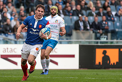 March 16, 2019 - Rome, Rome, Italy - Antoine Dupont during the Guinness Six Nations match between Italy and France at Stadio Olimpico on March 16, 2019 in Rome, Italy. (Credit Image: © Emmanuele Ciancaglini/NurPhoto via ZUMA Press)