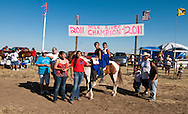 Fort Belknap Indian Reservation, Milk River Memorial Horse Races, Sweetheart Rescue Race, winners, Tevin and Belinda Horn ..
