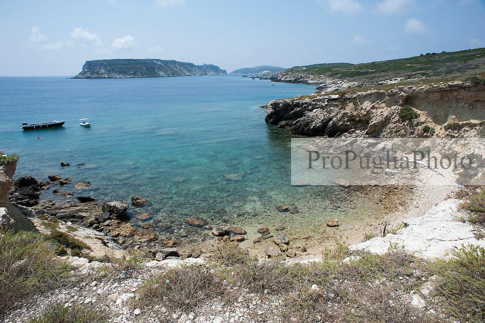 Le isole Tr&egrave;miti (o Diomed&egrave;e, dal greco Diom&egrave;dee, &Delta;&iota;&omicron;&mu;ή&delta;&epsilon;&epsilon;&sigmaf;) sono un arcipelago del mare Adriatico, sito 12 miglia nautiche a nord del promontorio del Gargano e 24 ad est della costa Molisana e da Termoli.<br /> Amministrativamente, l'arcipelago costituisce il comune italiano di Isole Tremiti di 455 abitanti della provincia di Foggia in Puglia.<br /> Il comune fa parte del Parco Nazionale del Gargano. Dal 1989 una porzione del suo territorio costituisce la Riserva naturale marina Isole Tremiti.<br /> Pur essendo il pi&ugrave; piccolo e il secondo meno popoloso comune della Puglia (con meno abitanti vi &egrave; solo Celle di San Vito), &egrave; uno dei centri turistici pi&ugrave; importanti dell'intera regione. Per la qualit&agrave; delle sue acque di balneazione &egrave; stato pi&ugrave; volte insignito della Bandiera Blu[4], prestigioso riconoscimento della Foundation for Environmental Education.<br /> <br /> L'arcipelago &egrave; composto dalle isole di:<br /> San Nicola, sulla quale risiede la maggior parte della popolazione e si trovano i principali monumenti dell'arcipelago.<br /> San Domino, pi&ugrave; grande, sulla quale sono insediate le principali strutture turistiche grazie alla presenza dell'unica spiaggia sabbiosa dell'arcipelago (Cala delle Arene).<br /> Capraia (detta pure Caprara o Capperaia), la seconda per grandezza, disabitata.<br /> Pianosa, un pianoro roccioso anch'esso completamente disabitato e distante una ventina di chilometri dalle altre isole.<br /> Il Cretaccio, un grande scoglio argilloso a breve distanza da San Domino e San Nicola.<br /> La Vecchia, uno scoglio pi&ugrave; piccolo del Cretaccio e prossimo a questo.
