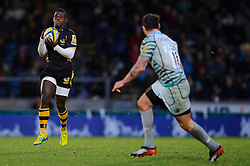 Wasps Winger (#11) Christian Wade in action during the second half of the match - Photo mandatory by-line: Rogan Thomson/JMP - Tel: Mobile: 07966 386802 25/11/2012 - SPORT - RUGBY - Adams Park - High Wycombe. London Wasps v Leicester Tigers - Aviva Premiership.