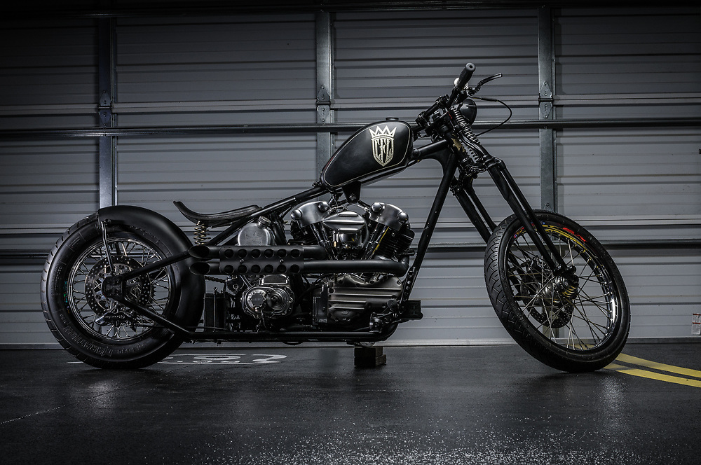 CFL knucklehead chopper | personal collection of James Hetfield