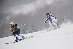 February 23, 2018 - Pyeongchang, SOUTH KOREA - 180223 Talina Gantenbein of Switzerland and Lisa Anderson of Sweden competes in the Women's Freestyle Ski Cross 1/8 Final during day fourteen of the 2018 Winter Olympics on February 23, 2018 in Pyeongchang..Photo: Carl Sandin / BILDBYRÃ…N / kod CS / 57999_318 (Credit Image: © Carl Sandin/Bildbyran via ZUMA Press)