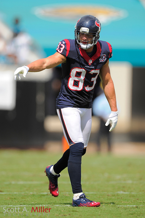 Houston Texans wide receiver Kevin Walter (83) during the NFL game between the Texans and the Jacksonville Jaguars, at EverBank Field on September 16, 2012 in Jacksonville, Florida. The Texans won 27-7...©2012 Scott A. Miller.