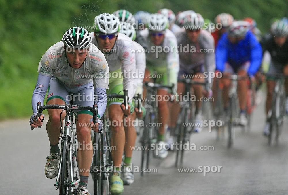 Walter Proch of Italia (LPR Brakes) leading the peloton in last 4th stage of the 15th Tour de Slovenie from Celje to Novo mesto (157 km), on June 14,2008, Slovenia. (Photo by Vid Ponikvar / Sportal Images)/ Sportida)