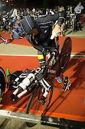 Craig ALEXANDER (AUS) Prepares Transition In The Pre Dawn. Ironman Asia Pacific Championship Melbourne. Triathlon. Frankston And St Kilda, Melbourne, Victoria, Australia. 24/03/2013. Photo By Lucas Wroe