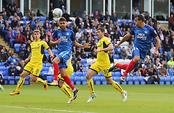 Steven Taylor of Peterborough United heads the ball goalwards - Mandatory by-line: Joe Dent/JMP - 30/09/2017 - FOOTBALL - ABAX Stadium - Peterborough, England - Peterborough United v Oxford United - Sky Bet League One