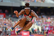 Shara Proctor (GBR) during the Muller Anniversary Games at the Stadium, Queen Elizabeth Olympic Park, London, United Kingdom on 23rd July 2016. Photo by Jon Bromley.