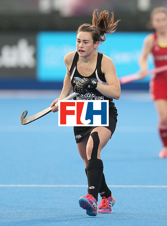 LONDON, ENGLAND - JUNE 21: Kelsey Smith of New Zealand during the FIH Women's Hockey Champions Trophy match between New Zealand and Great Britain at Queen Elizabeth Olympic Park on June 21, 2016 in London, England.  (Photo by Alex Morton/Getty Images)