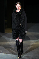 Milana Kruz walks down runway for F2012 Alexander Wang's collection in Mercedes Benz fashion week in New York on Feb 12, 2012 NYC