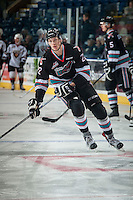 KELOWNA, CANADA - NOVEMBER 21: Braydyn Chizen #22 of Kelowna Rockets warms up against the Vancouver Giants on November 21, 2015 at Prospera Place in Kelowna, British Columbia, Canada.  (Photo by Marissa Baecker/Shoot the Breeze)  *** Local Caption *** Braydyn Chizen;