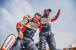 Chaleco Lopez (CHL) of South Racing CAN AM at the finish line after the last stage of Rally Dakar 2019 from Pisco to Lima, Peru on January 17, 2019. // Flavien Duhamel/Red Bull Content Pool // AP-1Y5HFUKPN2111 // Usage for editorial use only // Please go to www.redbullcontentpool.com for further information. //