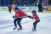 KELOWNA, CANADA - FEBRUARY 18:  Dillon Dube #19 of the Kelowna Rockets at the BCAA Family Skate with the Kelowna Rockets on February 18, 2018 at Prospera Place in Kelowna, British Columbia, Canada.  (Photo By Cindy Rogers/Nyasa Photography,  *** Local Caption ***