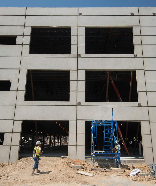 Yates High School construction, March 28, 2017.