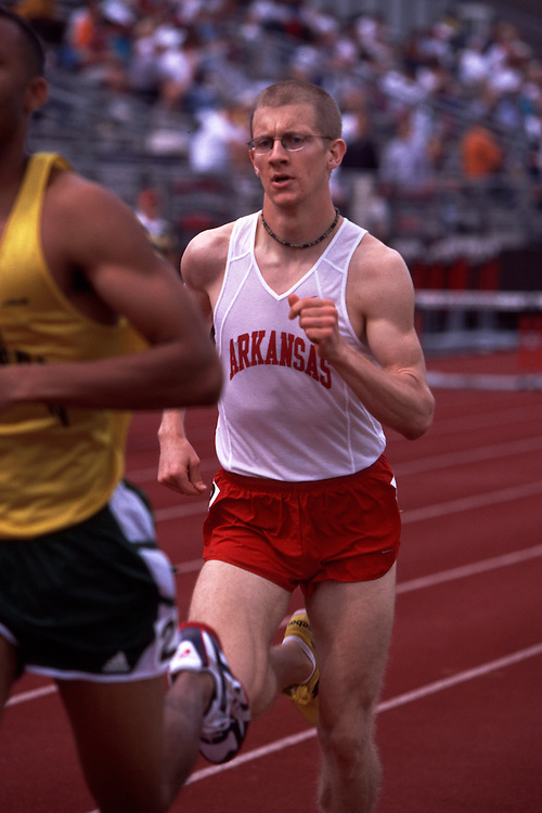 John D. McDonnell Invitational Track Meet in Fayetteville April, 2002<br /> &copy;Wesley Hitt/U of ArkansasUniversity of Arkansas Razorback Track and Field Team action photography during the 2001-2002 season.