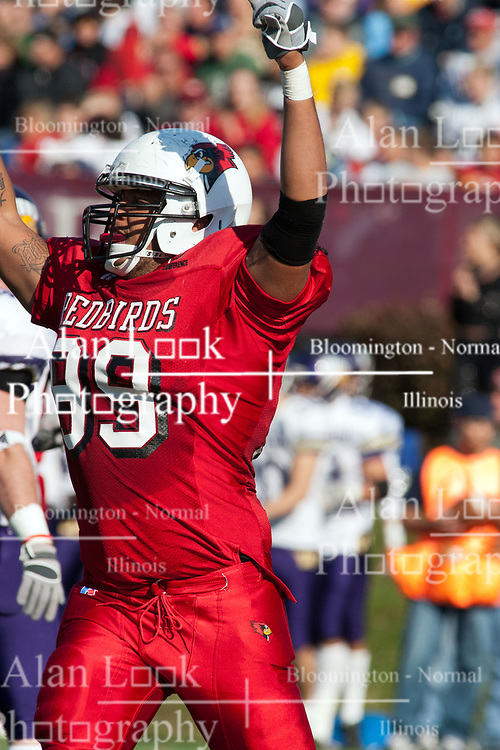 29 October 2005: Redbird James Stevenson III. With a final score of 31 - 17, Western Illinois University Leathernecks collared the Illinois State University Redbirds knocking them from their 18th ranked perch at Hancock Field on Illinois State's campus in Normal IL