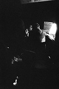 Ravers in darkness at a quarry in Frome, Somerset March 2014