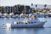 Sailing At Marina Del Rey Harbor
