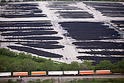 Rows of municipal compost at Harborview Landscape Waste Processing's facility in Chicago keeps organic waste out of landfills. Compost is nutrient-rich soil that puts organic matter back into the food chain. Harborview primarily composts grass, leaves, and brush, which stay on site for six months and are then resold to the Department of Transportation and private landscapers.