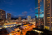 Twilight, Honolulu, Oahu, Hawaii