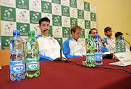 Wroclaw 29/01/2013.Hala Stulecia.Davis Cup .Poland vs Slovenia.Press conference of Slovenian team..Photo by : Piotr Hawalej