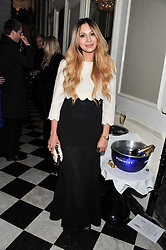 ZARA MARTIN at a reception hosted by Beulah London and the United Nations to launch Beulah London's AW'11 Collection 'Clothed in Love' and the Beulah Blue Heart Campaign held at Dorsia, 3 Cromwell Road, London SW7 on 18th October 2011.