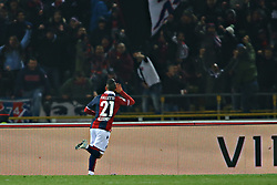 """Foto Filippo Rubin<br /> 24/02/2018 Bologna (Italia)<br /> Sport Calcio<br /> Bologna - Genoa - Campionato di calcio Serie A 2017/2018 - Stadio """"Renato Dall'Ara""""<br /> Nella foto: GOAL CESAR FALLETTI  (BOLOGNA)<br /> <br /> Photo by Filippo Rubin<br /> February 24, 2018 Bologna (Italy)<br /> Sport Soccer<br /> Bologna vs Genoa - Italian Football Championship League A 2017/2018 - """"Renato Dall'Ara"""" Stadium <br /> In the pic: GOAL CESAR FALLETTI  (BOLOGNA)"""