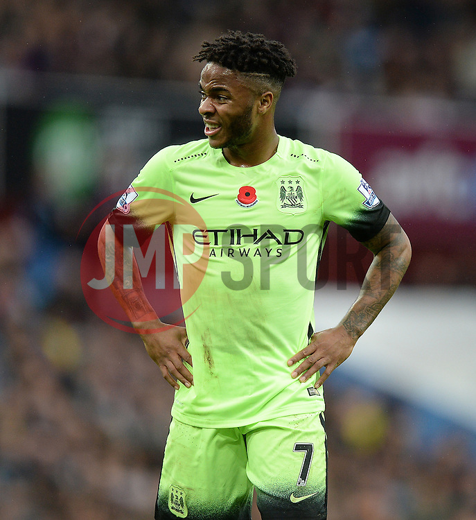 Raheem Sterling of Manchester City - Mandatory byline: Alex James/JMP - 07966 386802 - 08/11/2015 - FOOTBALL - Villa Park - Birmingham, England - Aston Villa v Manchester City - Barclays Premier League
