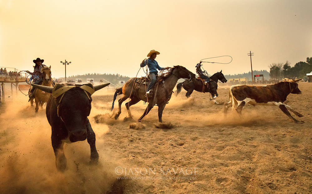 Team Roping in Darby, Montana.