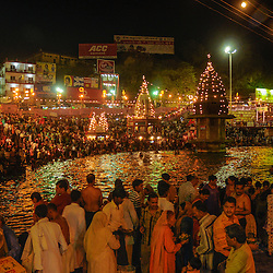 Millions of people gather every four years at the Ganges in India to make religious offerings. In 2010 the city of Haridwar hosted the festival, Haridwar, India.