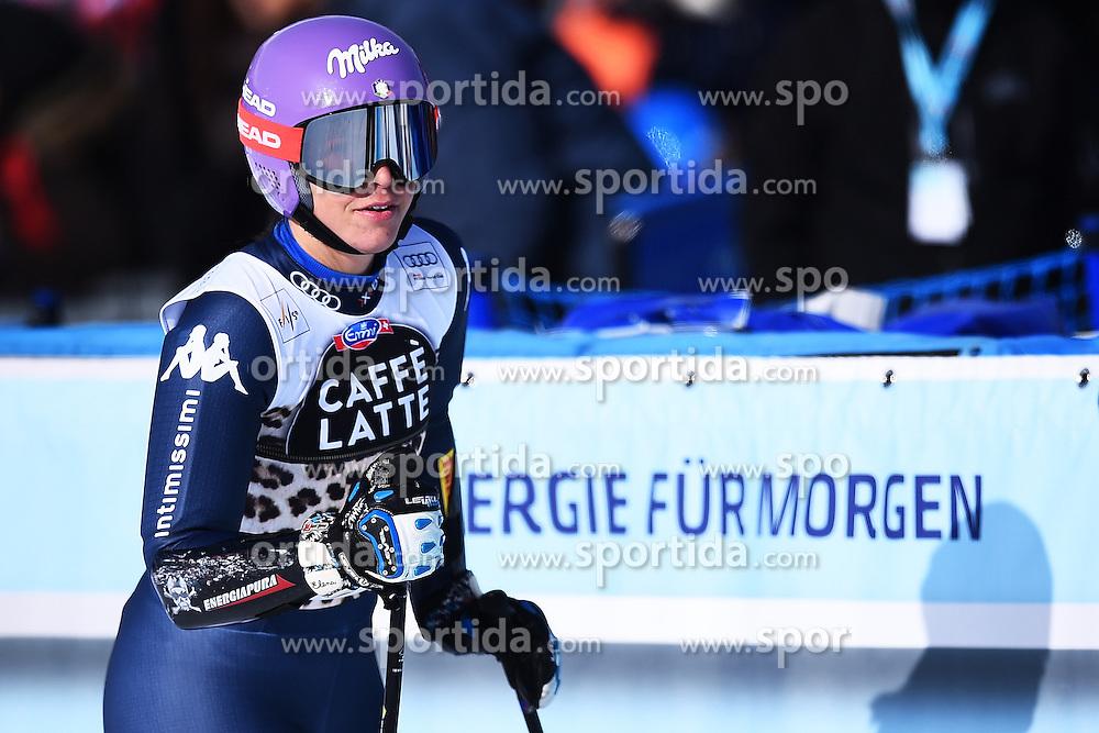12.03.2016, Pista Silvano Beltrametti, Lenzerheide, SUI, FIS Weltcup Ski Alpin, Lenzerheide, Super G, Damen, im Bild Elena Curtoni (ITA) // reacts after her run of ladie's Super G of Lenzerheide FIS Ski Alpine World Cup at the Pista Silvano Beltrametti in Lenzerheide, Switzerland on 2016/03/12. EXPA Pictures &copy; 2016, PhotoCredit: EXPA/ Freshfocus/ Manuel Lopez<br /> <br /> *****ATTENTION - for AUT, SLO, CRO, SRB, BIH, MAZ only*****