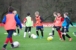 CARDIFF, WALES - Thursday, January 31, 2013: Children take part in the Vauxhall's Fun Football programme with the Football Association of Wales and the Welsh Football Trust at the Vale of Glamorgan Hotel. For more information please contact Amy White on 07805 936211.  (Pic by David Rawcliffe/Propaganda)