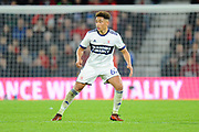 Marcus Tavernier (62) of Middlesbrough during the EFL Cup match between Bournemouth and Middlesbrough at the Vitality Stadium, Bournemouth, England on 24 October 2017. Photo by Graham Hunt.