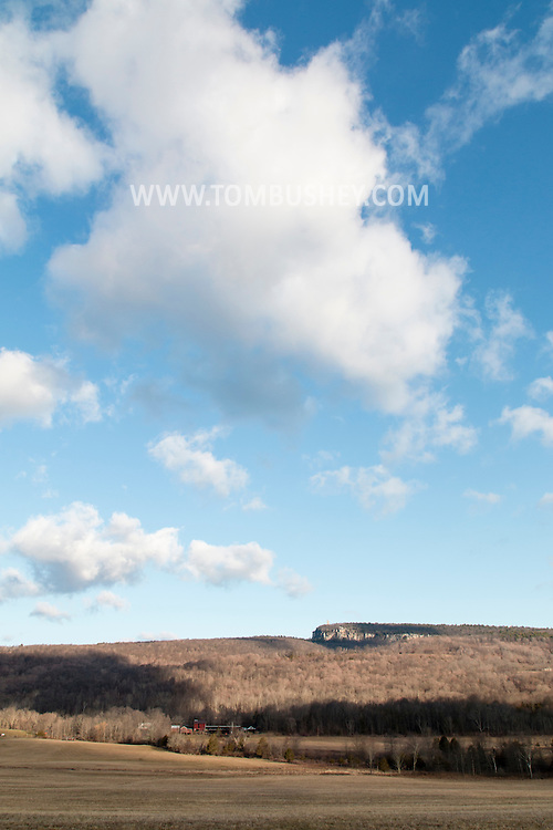 Gardiner, New York A view of the Skytop Tower and the Shawangunk ridge on April 11, 2015.