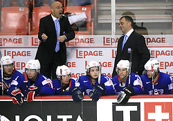Head Coach of Slovenia Mats Waltin and Assistant coach Matjaz Kopitar at ice-hockey game Slovenia vs Slovakia at second game in  Relegation  Round (group G) of IIHF WC 2008 in Halifax, on May 10, 2008 in Metro Center, Halifax, Nova Scotia, Canada. Slovakia won after penalty shots 4:3.  (Photo by Vid Ponikvar / Sportal Images)