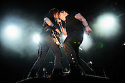 Shinedown performing at the Verizon Wireless Amphitheater in St. Louis, Missouri on September 20, 2008.