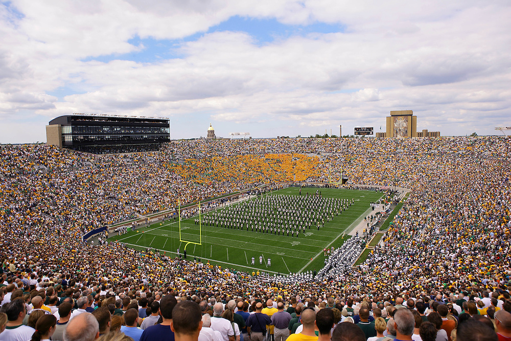 Sept. 17, 2005; South Bend, IN USA; Notre Dame Stadium is packed for Charlie Weis' home debut against Michigan State Saturday September 17, 2005. Photo By Matt Cashore