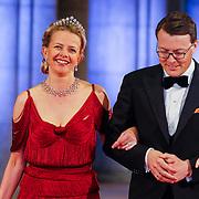 NLD/Amsterdam/20130429- Afscheidsdiner Konining Beatrix Rijksmuseum, Princess Mabel and prince Constantijn