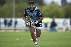 September 23, 2017 - Galway, Ireland - Rey Lee-Lo of Cardiff in action during the Guinness PRO14 Conference A match between Connacht Rugby and Cardiff Blues at the Sportsground in Galway, Ireland on September 23, 2017  (Credit Image: © Andrew Surma/NurPhoto via ZUMA Press)