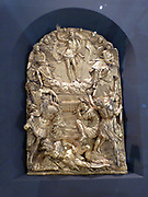 Part of a memorial altar showing the resurrection, prophets and angels.  Hubert Gerhard (about 1550-1620).  This is his first documented work, who helped introduce the style of the Italian High Renaissance to Northern Europe.  The altar commemorated the work of Christopher Fugger, who died in 1579.
