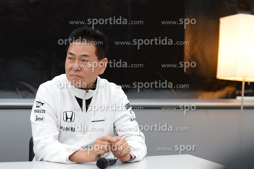28.02.2015, Circuit de Catalunya, Barcelona, ESP, FIA, Formel 1, Testfahrten, Barcelona, Tag 3, im Bild Yasuhisa Arai (JPN) Head of Honda Motorsport in a Press Conference // during the Formula One Testdrives, day three at the Circuit de Catalunya in Barcelona, Spain on 2015/02/28. EXPA Pictures &copy; 2015, PhotoCredit: EXPA/ Sutton Images/ Patrik Lundin Images<br /> <br /> *****ATTENTION - for AUT, SLO, CRO, SRB, BIH, MAZ only*****